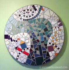 Pique Assiette Mosaic for wall or table top created by Will Bushell at summerhouseart.com