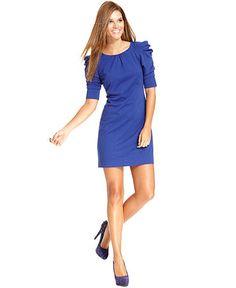 Love these shoulders!!! Jessica Simpson Dress, Short-Sleeve Puff-Shoulder Ponte