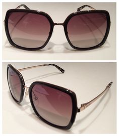 MaxMara brown acetate and gold tone sunglasses with graded smoky lenses for that seventies bohemian look.  Price on request.