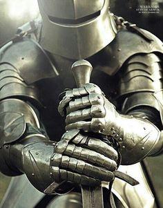 fantasy medieval knight armor praying before god Medieval Combat, Medieval Knight, Medieval Armor, Medieval Fantasy, Armadura Medieval, Knight In Shining Armor, Knight Armor, Sword Photography, Fantasy Photography