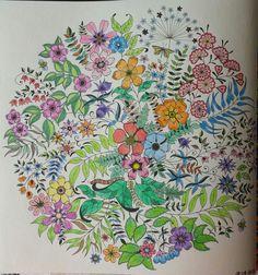 Décimo quarto colorido. Flores e folhas do Jardim Secreto. #jardimsecreto #flores #folhas #mandala
