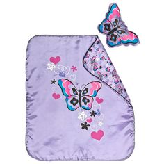 purple butterfly bedding 2 pc. Black Bedroom Furniture Sets. Home Design Ideas