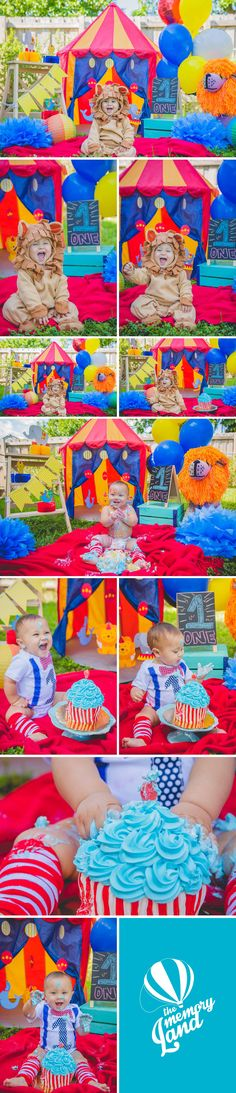Circus. Cake Time. Little Boy. Miami Photography. Child Photography. Smash the cake photography Check out more of our work :) www.thememoryland