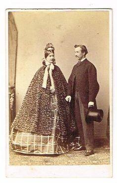CDV Photograph Victorian Lady Gent Vintage Ladies Fashion Antique C 1870, eBay