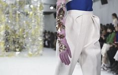 These pleated pants please. DelPozo Fall-Winter 2016 + Cool Chic Style Fashion