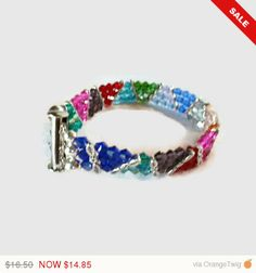 Check out ENDSMMR10 Zig Zag Colorful Cuff Bracelet Perfect for Spring and Summer on hidesrtrosesattic