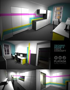 Office house reconstruction / rooms