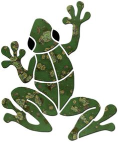 Garden & Pond :: Frogs :: Small Frog - Blue Water Pool Mosaics