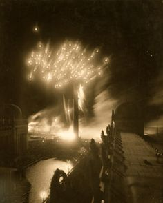 July 4th fireworks over San Francisco, circa 1915