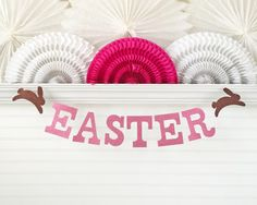 Glitter Easter Banner  5 inch Letters with by FreshLemonBlossoms