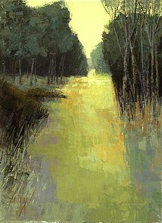 ☼ Painterly Landscape Escape ☼ landscape painting by Brent Watkinson