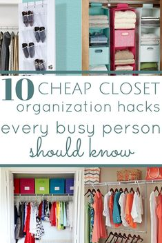 10 cheap tips that will help you organize your closet quickly! closet organization, organizing tips, budget friendly organizing, cheap closet organization, small closet organization