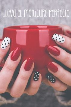 Nail art is a very popular trend these days and every woman you meet seems to have beautiful nails. It used to be that women would just go get a manicure or pedicure to get their nails trimmed and shaped with just a few coats of plain nail polish. Dot Nail Designs, Elegant Nail Designs, Beautiful Nail Designs, Acrylic Nail Designs, Nails Design, Acrylic Nails, Dots Design, Red Design, Dot Nail Art