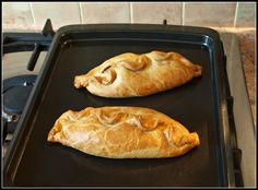 Cornish pasty - beef, potato, onion, and swede turnip in a crimped pastry casing - I like to serve these wonderful meat pies with a beef gravy and a field greens salad with a raspberry vinaigrette dressing. Perfect fall lunch!