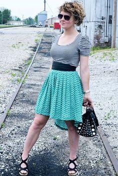 @roressclothes closet ideas #women fashion cyan skirt