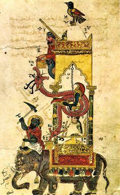 Abu'l Izz Isma'il al-Jazari, Automata Elephant-Clock, 1315.