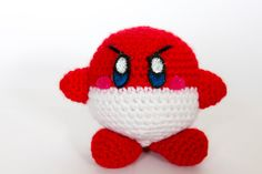 Crochet Voltorb Kirby Amigurumi **Made to order** by PersnicketyPrecision on Etsy