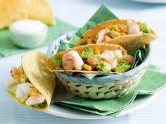 Taco's met scampi en guacamole