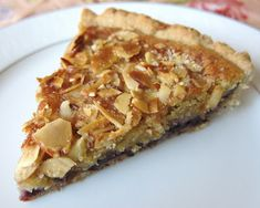 Almond Blueberry Frangipane Tart with Lavander Shortbread Crust by Fragrant Vanilla Cake