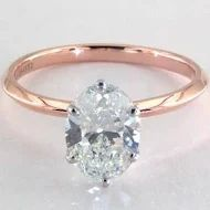 Oval Solitaire Engagement Ring Rose Gold in SuperZoom Oval Solitaire Engagement Ring, Crystals, Diamond, Jewelry, Jewlery, Jewerly, Schmuck, Crystal, Diamonds