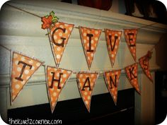 Give Thanks Fall Bunting