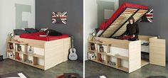 Clever Bed Designs With Integrated Storage For Max Efficiency Pic of parisot storage bed
