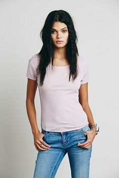 FreePeople Intimately Womens Britney Baby Tee Found on my new favorite app Dote Shopping #DoteApp #Shopping