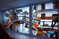 Venice stained glass window. Витражное окно. Витражная мастерская Анатолия Тамакова +7(918)452-31-99 Витражи Тиффани Краснодар