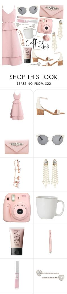 """coffee date"" by tropicalcraze ❤ liked on Polyvore featuring Christian Dior, Joanna Laura Constantine, STELLA McCARTNEY, Fujifilm, Juliska, NARS Cosmetics, Anastasia, Lancôme and Carolee"