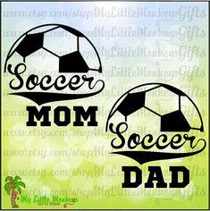 Soccer Mom Dad Split Design  Full Color by MyLittleMonkeysGifts