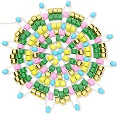 Tutorial - Peyote Stitch Mandala - Fire Mountain Gems and Beads