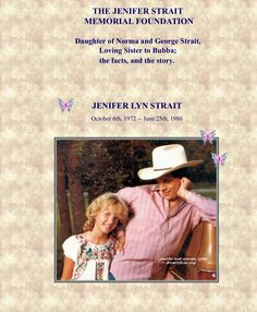 george his daughter jenifer strait jenifer strait memorial foundation
