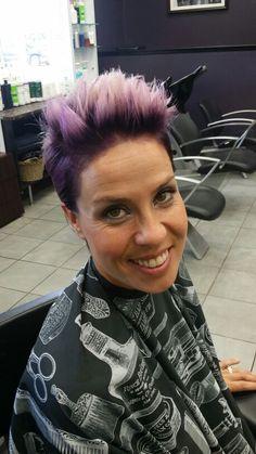 Hair By Lisa Deep violet Root Lavender ends Schwarzkopf Professional