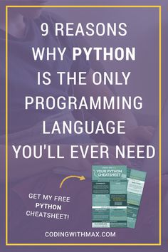 Python is the main language I have coded in for the past 3 years, and it's the language that is solely responsible for my successful career as a programmer and data scientist. Because I owe so much to Python, I thought I'd sit down today and sing its praises from the rooftops. Basically, here are nine reasons as to why Python is (seriously) the only programming language you'll ever need. #python #programming