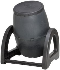 Urban Compost Tumbler Deluxe Black Drum - 9.5 Cubic Foot Capacity.  Made from 100% recycled plastic resin.  10 year warranty.
