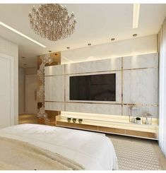 Home Interior Decoration .Home Interior Decoration Bedroom Tv Unit Design, Living Room Tv Unit Designs, Luxury Bedroom Design, Family Room Design, Luxury Home Decor, Luxury Interior, Home Design, Home Interior Design, Interior Plants