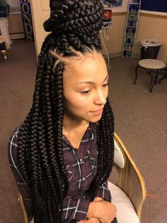 Jumbo box braids officialtune pinteres weave hairstyles school hairstyles straight hairstyles summer hairstyles hairstyle short hairstyle ideas hair ideas black hair braids braid hair pmusecretfo Image collections