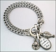 Simply Charming Bracelet Saying Silver by BlackberryDesigns, $43.00