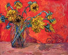 Snow Blooms - Erin Hanson Prints - Buy Contemporary Impressionism Fine Art Prints Artist Direct from The Erin Hanson Gallery Painting Inspiration, Art Inspo, Van Gogh Still Life, Vincent Willem Van Gogh, Van Gogh Art, Van Gogh Paintings, Post Impressionism, Wassily Kandinsky, Henri Matisse