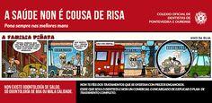 "Campaña ""a saúde non é cousa de risa"" | Colegio de Dentistas de Pontevedra y Ourense Dental, Humor, Dentists, Humour, Moon Moon, Jokes, Dentist Clinic, Funny, Funny Jokes"