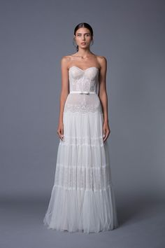 Jane Strapless Lace Wedding Dress from Lihi Hod's 2017 Collection