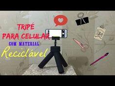 Faça você mesma (DIY) Tripé para celular com material reciclável! - YouTube