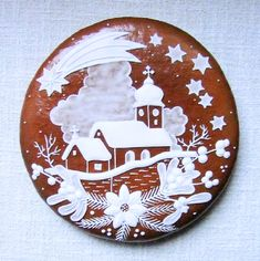 Today we are looking at Moravian and Bohemian gingerbread designs from the Czech Republic. Back home, gingerbread is eaten year round and beautifully decorated cookies are given on all occasions. Christmas Gingerbread House, Noel Christmas, Christmas Goodies, Christmas Baking, Gingerbread Cookies, Gingerbread Houses, Fancy Cookies, Iced Cookies, Cute Cookies