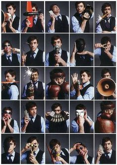 The many faces of Robert Downey Jr. Via his Facebook page
