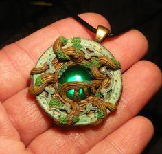 Overgrown Ages - handmade Pendant by Ganjamira.deviantart.com on @deviantART