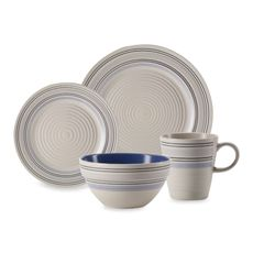 Pfaltzgraff Rio Swirl Blue Dinnerware - Bed Bath & Beyond