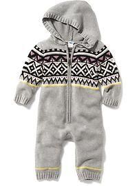 Fair Isle Hooded Sleeper for Baby