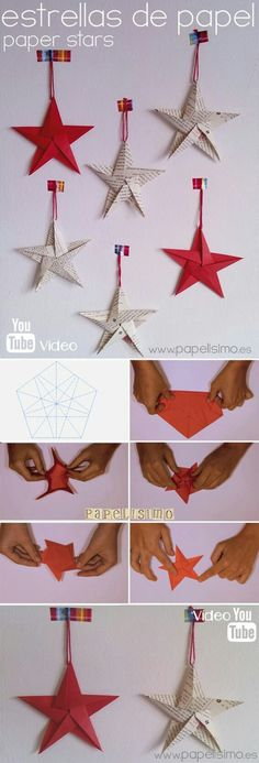 Visit the webpage to see more on Origami Paper Folding Christmas Origami, Christmas Paper Crafts, Diy Christmas Tree, Christmas Projects, Holiday Crafts, Christmas Decorations, Christmas Ornaments, Tree Decorations, Origami And Kirigami