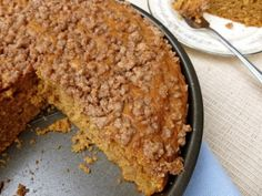 Light Pumpkin Streusel Coffeecake