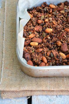 Ananás e Hortelã: Granola de Chocolate e Laranja